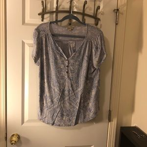 Lucky Brand Henley Tee Large